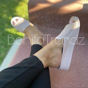 Jelly PVC Laser Cut Wedge Sandals